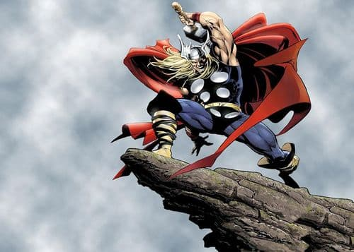 THOR - HAMMER OF THE GODS canvas print - self adhesive poster - photo print