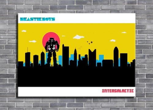 Beastie Boys - Intergalactic city style 4 -  canvas print - self adhesive poster - photo print