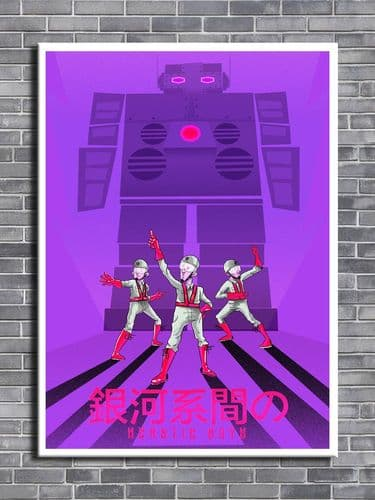 Beastie Boys - INTERGALACTIC purple art -  canvas print - self adhesive poster - photo print