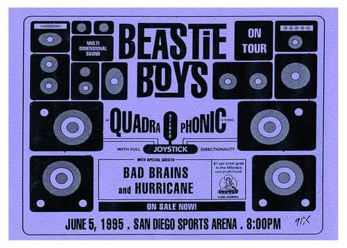 Beastie Boys - Live Ticket Blue art -  canvas print - self adhesive poster - photo print