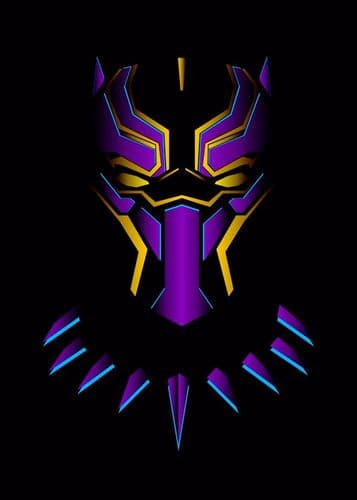 BLACK PANTHER - CUT OUT PURPLE - canvas print - self adhesive poster - photo print