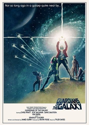 GUARDIANS OF THE GALAXY - STAR WARS STYLE / canvas print - self adhesive poster - photo print