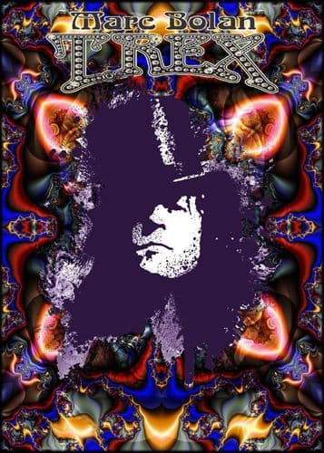 T REX - MARK BOLAN - PSYCHEDELIC MARC  - canvas print, self adhesive poster, photo print