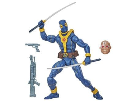 Hasbro Marvel Legends Deadpool Wave Blue Deadpool Action Figure (Strong Guy BAF)