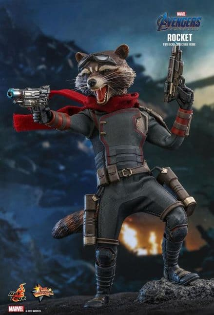 Hot Toys MMS548 Marvel Avengers Endgame Rocket Raccoon 1/6 Scale Figure