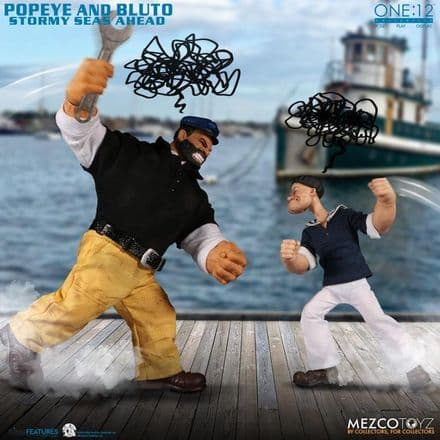 Mezco One:12 Collective Popeye & Bluto Stormy Seas Ahead Deluxe Action Figure Box Set