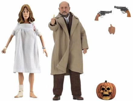 "NECA Halloween II 8"" Clothed Dr Loomis & Laurie Strode Action Figure 2-Pack"