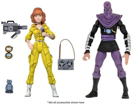 NECA TMNT '87 April O'Neil & Foot Soldier Action Figure 2-Pack (Teenage Mutant Ninja Turtles)
