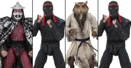 "NECA TMNT Movie 7"" Splinter, Shredder, Foot Soldier Action Figure 4-Pack"