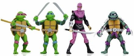 NECA TMNT Turtles in Time 4-Pack Wave 1 (Teenage Mutant Ninja Turtles)
