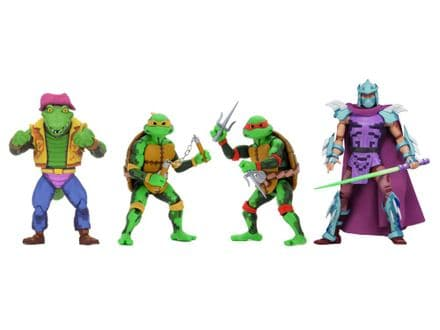 NECA TMNT Turtles in Time Action Figure 4-Pack Wave 2 (Teenage Mutant Ninja Turtles)