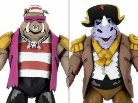 NECA TMNT: Turtles in Time Pirate Rocksteady & Bebop Action Figure 2-Pack