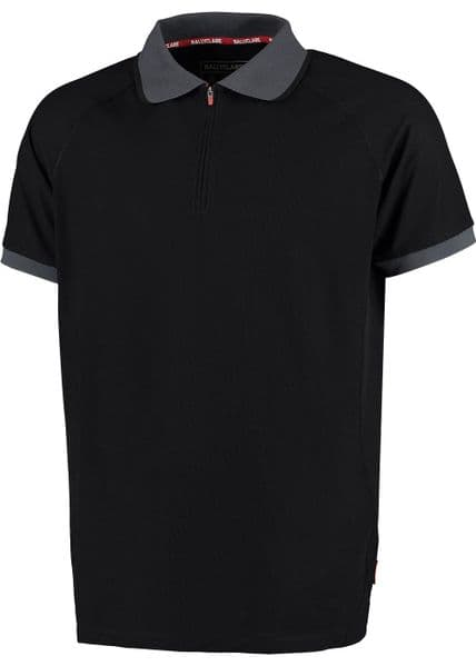 Ballyclare 365 Workwear Polo Shirt with Moisture Management and Quarter Zip