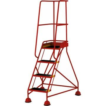 BS EN131-7 Mobile Safety Steps with Domed Feet