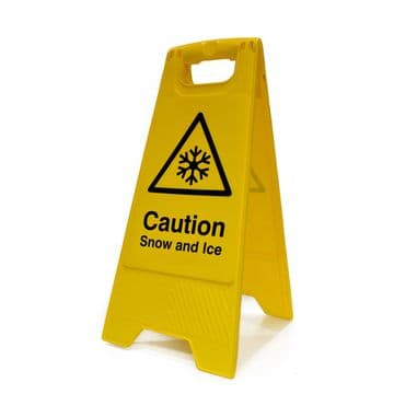 Caution Snow and Ice A Frame Safety Sign