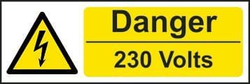 Danger 230 Volts Electrical Safety Sign