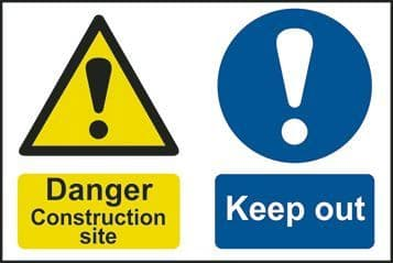 Danger Construction Site Keep Out Multi Message Sign