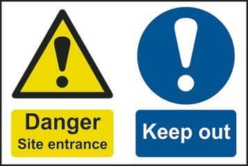 Danger Site Entrance Keep Out Multi Message Sign
