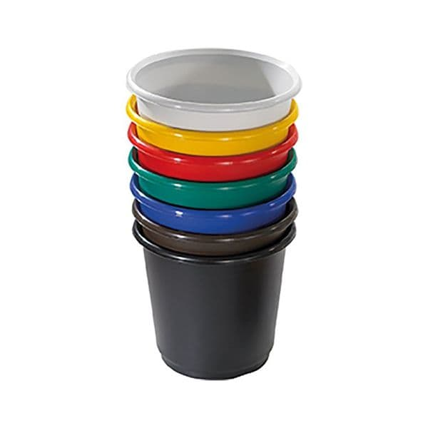 Desk Side Office Waste Bins - Solid Colour Plastic (Pack of 4)