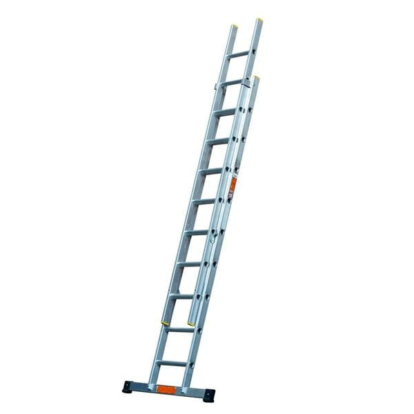 EN131 Professional Aluminium Double Extension Ladders with Stabiliser