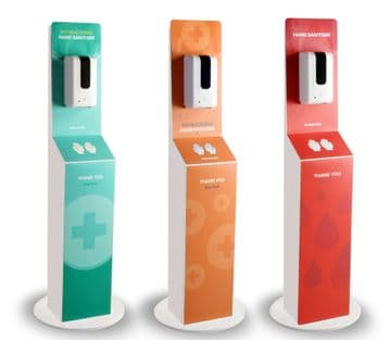 Freestanding Hand Sanitising Station with Automatic Dispenser
