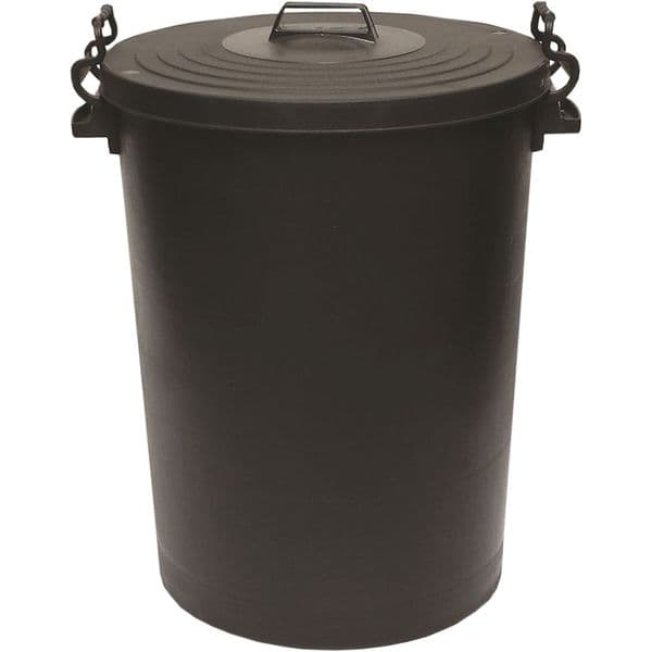 Heavy Duty Plastic Dustbins with Clip on Lids - 85lt & 110lt