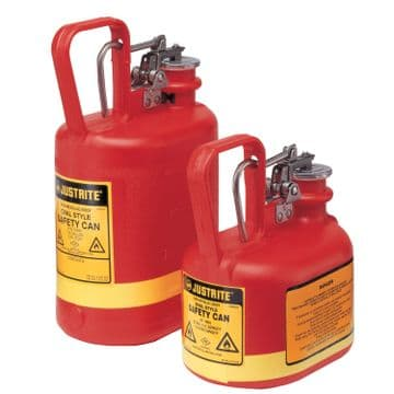 Justrite Polyethylene Type I Safety Cans for Flammables