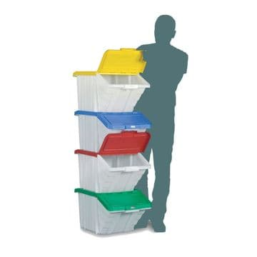 Large Picking Containers with Hinged Lids (Pack of 4)