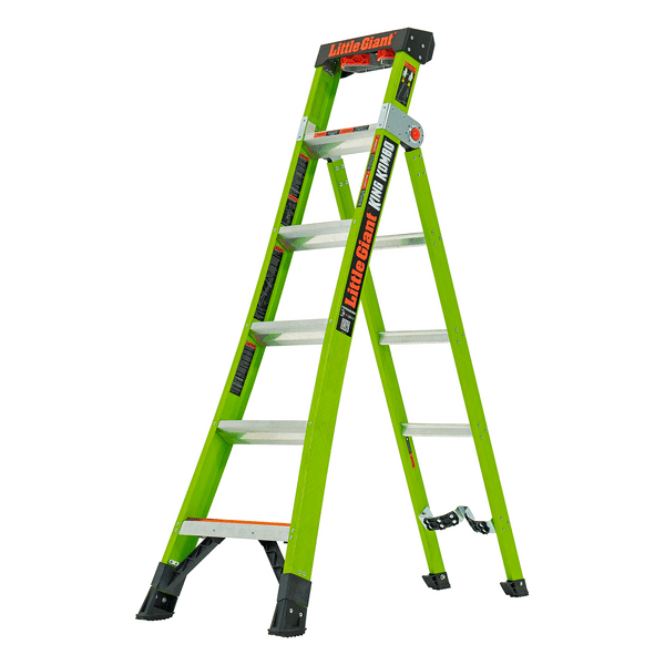 Little Giant King Kombo Industrial Fibreglass Combination Step Ladders