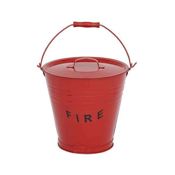Metal Fire Sand Bucket with Lid