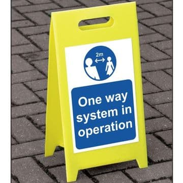 One Way System Freestanding A Board Floor Sign