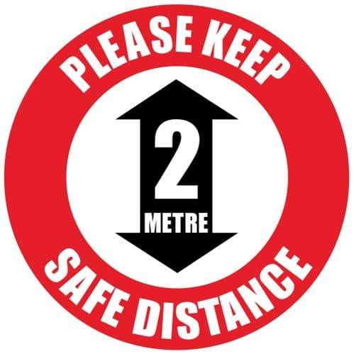 Please Keep 2m Distance Floor Sticker
