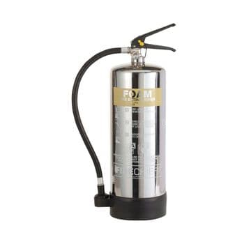 Polished Stainless Steel Spray Foam Fire Extinguishers