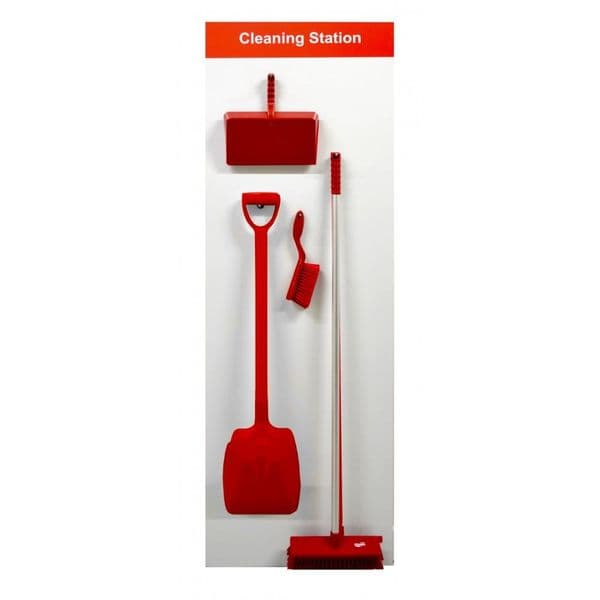Shadow Board Cleaning Station A - Broom & Shovel
