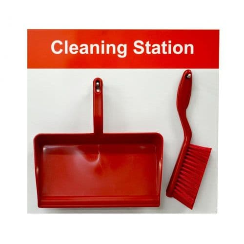 Shadow Board Cleaning Station D - Dustpan & Brush