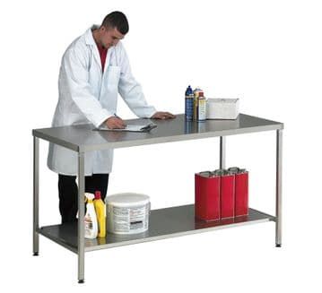 Stainless Steel Workbenches with Lower Shelf