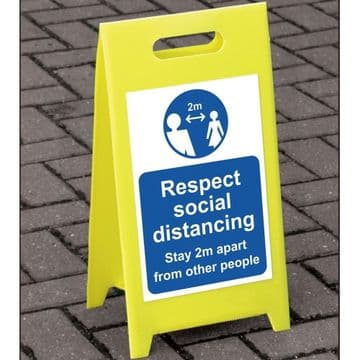 Stay 2m Apart Freestanding A Board Floor Sign