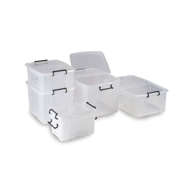 Storemaster Transparent Storage Boxes with Lids