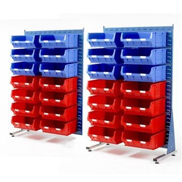 Topstore Single Sided Spacemasters TC Small Parts Storage Container Kits