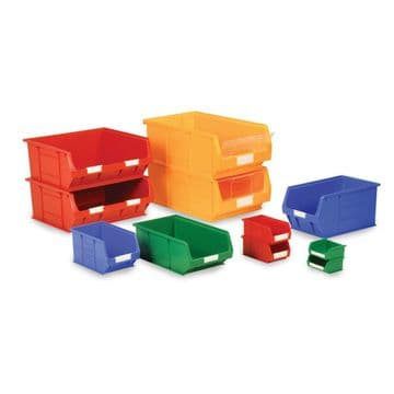 Topstore TC Plastic Small Parts Picking Containers - Coloured Storage Bins