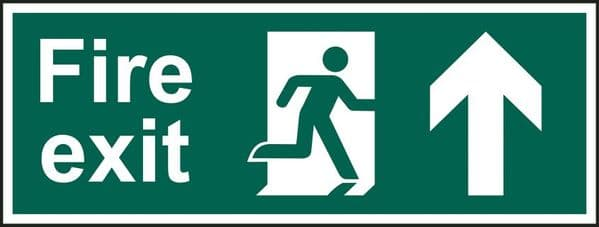 Up Arrow Fire Exit Sign