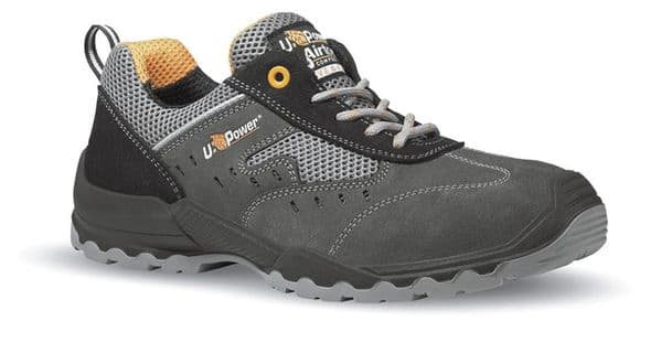 UPower Breeza Black/Grey Safety Trainers S1P SRC