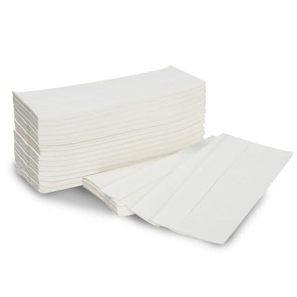 White C Fold Paper Hand Towels