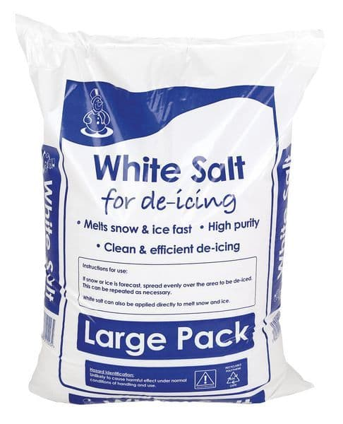 White Winter De-icing Salt - 25kg bag