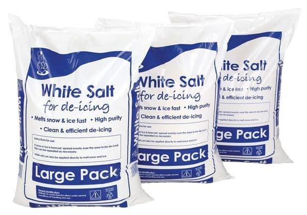 White Winter De-icing Salt - 3 x 25kg bags