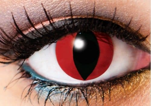 Red Devil Demon Contacts - 1 Day