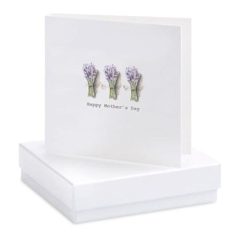 Boxed Lavender Mothers Day Earrings Card