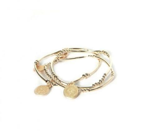 Envy Gold   Bracelet with Coin Charm