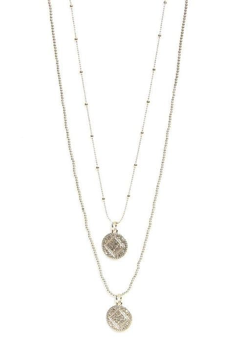 Envy Long Double Layer Coin Necklace