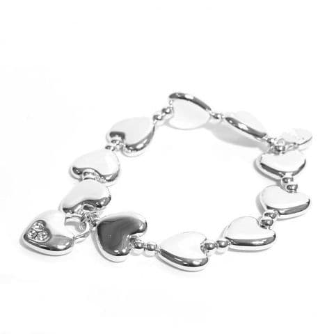 Envy Silver Plated Heart with Diamante Charm